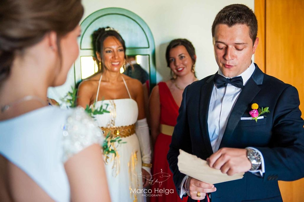 Boda en Hotel Pino Alto entrega ramo