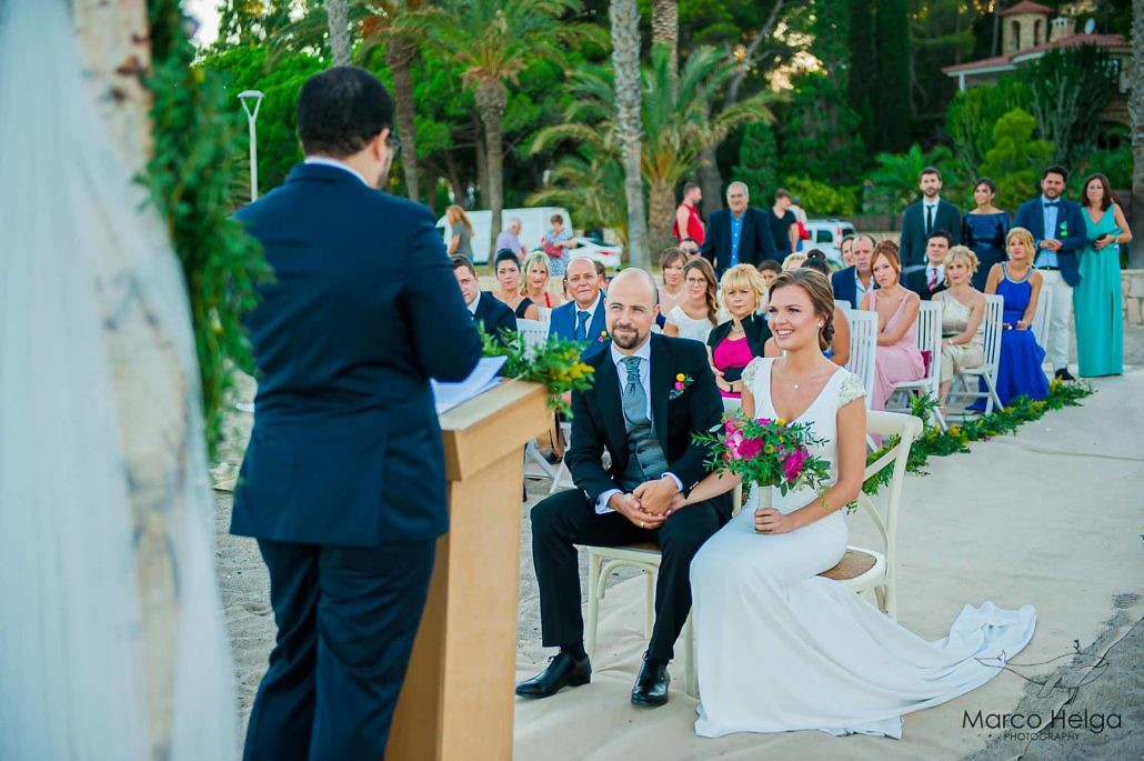 Boda en Playa Cristal ceremonia