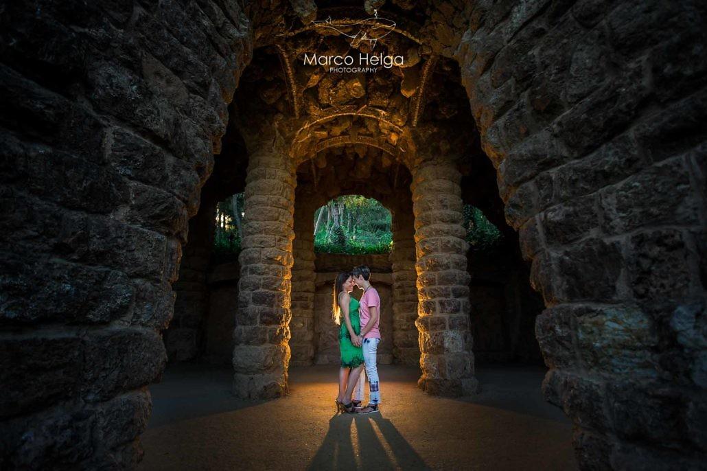 Preboda Romántica en el Parc Güell